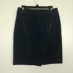 Ann Taylor Zip-Pockets A-Line Skirt Trim 6 #3689